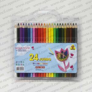 26. 24pcs Jumbo Round_Tri_Hex Colour Pencil in PVC Clamshell_800x800