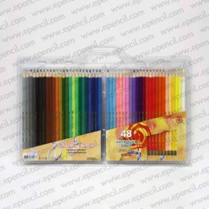 57. 48pcs Round_Tri_Hex Water Soluble (Aqua) Colour Pencil in Clamshell_800x800