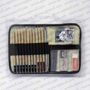 85. 18pcs Sketch Set with Canvas in PVC Clamshell_800x800
