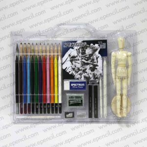 86. 33pcs Drawing Set with Wooden Figure in PVC Clamshell_800x800
